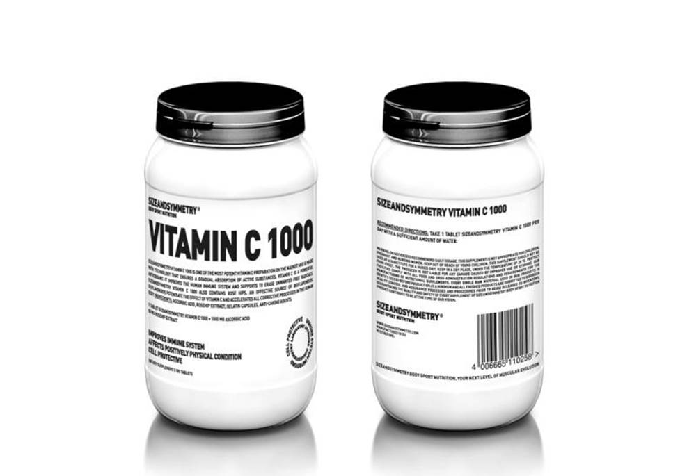 Sizeandsymmetry SizeAndSymmetry Vitamín C 1000 100 tabliet 100tbl